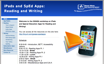 Special Education iPad Apps for Reading and Writing