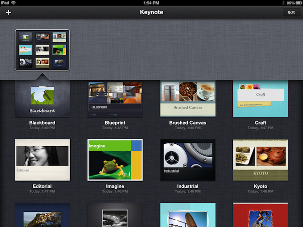 Free Keynote Templates for the iPad