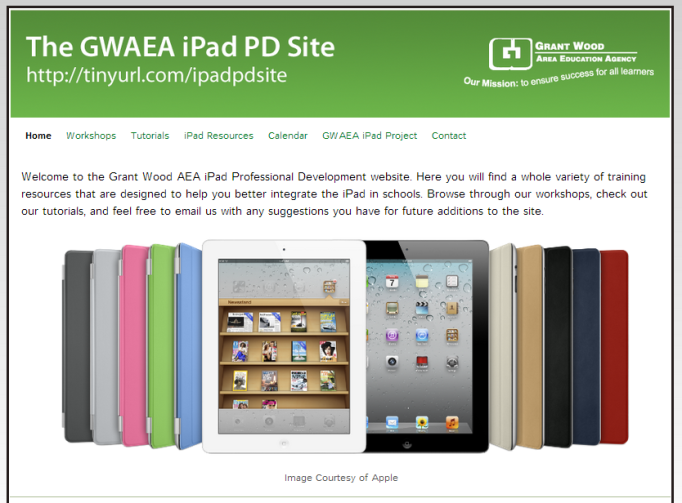 GWAEA iPad PD Site