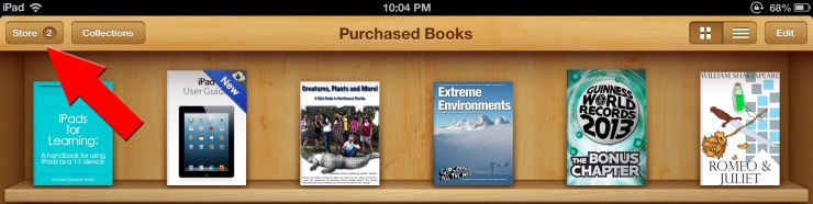 iBooks Store Update Notification