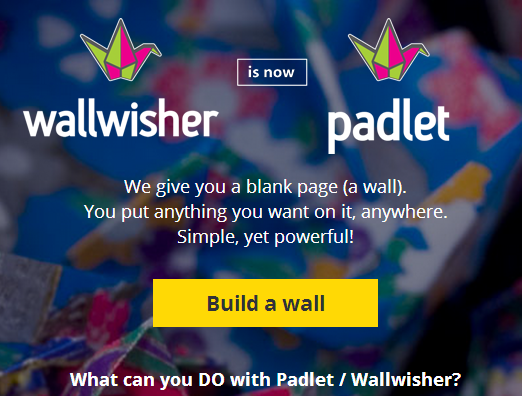 Wallwisher now Padlet