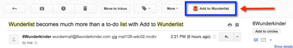 Add to Wunderlist