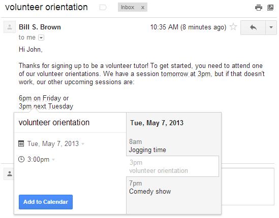 Adding Google calendar events