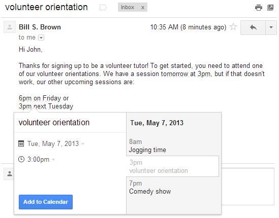 Adding Google calendar events