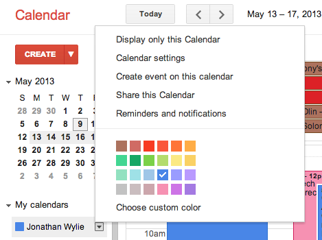 Create event in Google Calendar