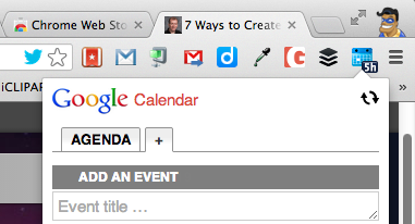 Google Calendar Extension