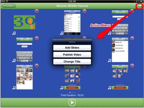 30 Hands App Slides