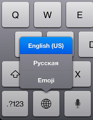 ipad keyboard languages