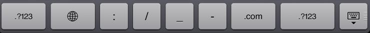 safari keyboard ipad
