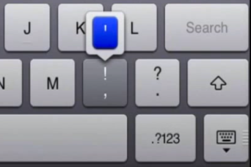 Hidden iPad Apostrophe Key
