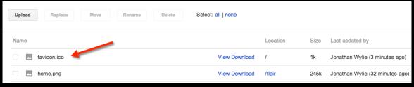 upload favicon google sites