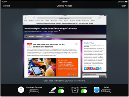 Guided Access in iOS 7