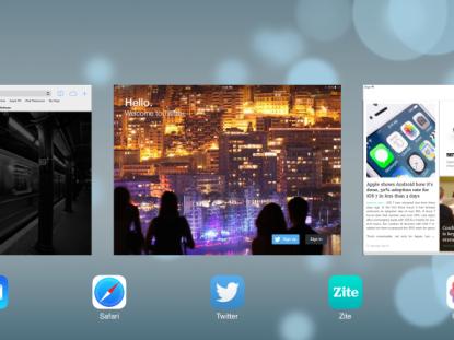 Multitasking in iOS 7