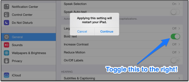 text readability in iOS 7