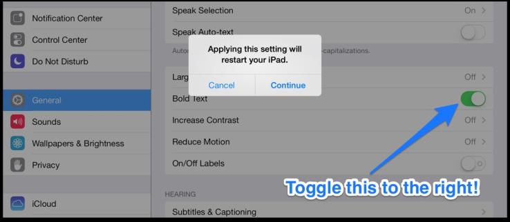 text readability in iOS 7