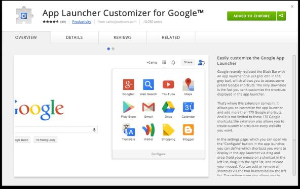 App Launcher Customizer for Google