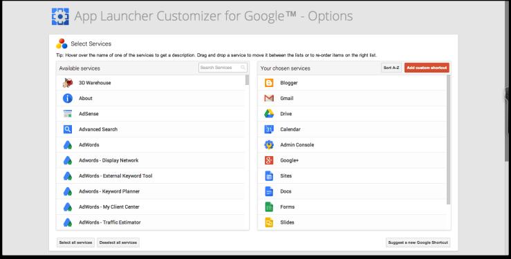 App Launcher Options