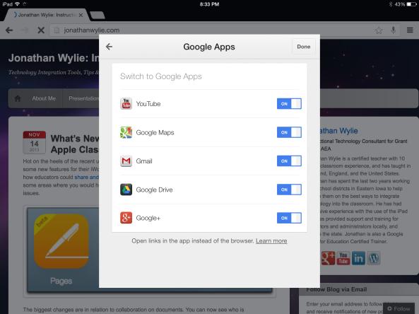Setting Default Apps on the iPad