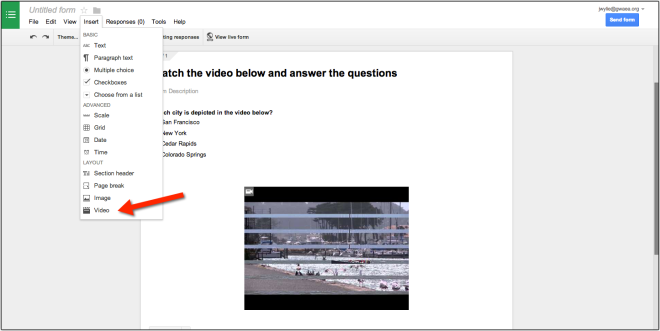 Google Form Videos