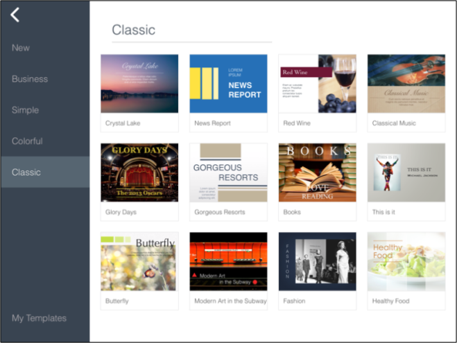SlideIdea iPad Presentation Templates