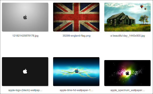 thumbnail view google sites folder