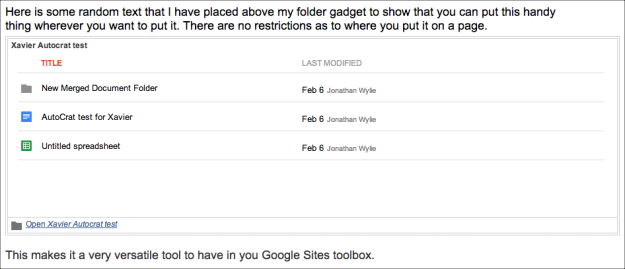 text around google folder
