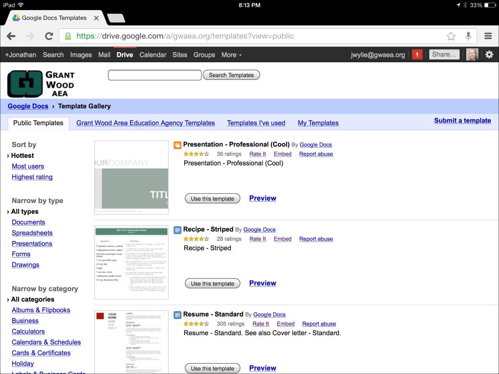 Google Drive Templates | systemtrust