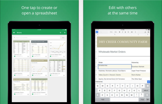 google sheets for ios