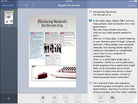 prizmo app screenshot
