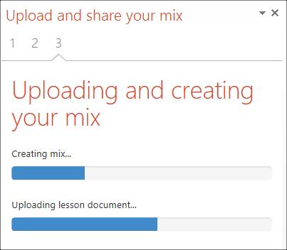 uploading office mix