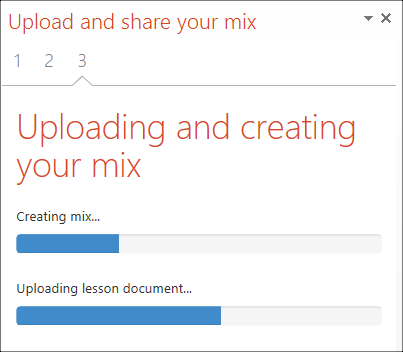 uploading office mix