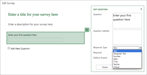 How To Collect Data With An Excel Survey Amp Office 365