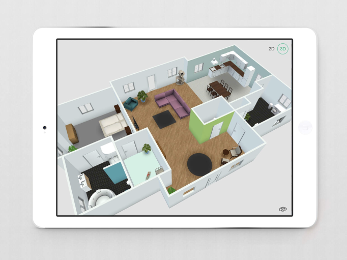3D View of your Roomle design