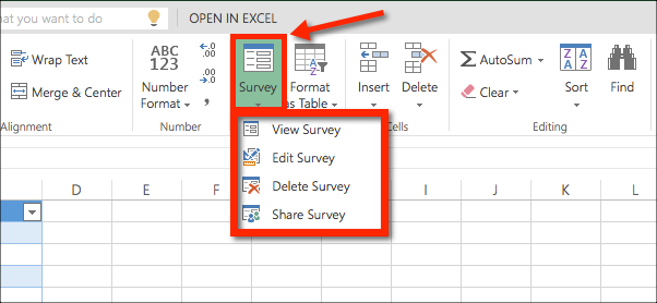how to collect data with an excel survey office 365 education