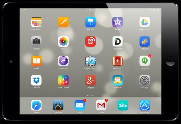 iPad Air Homescreen