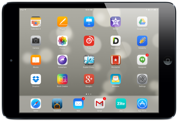 iPad Air Homescreen