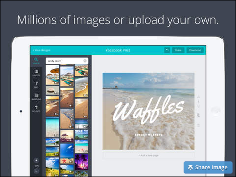 using images on canva for ipad