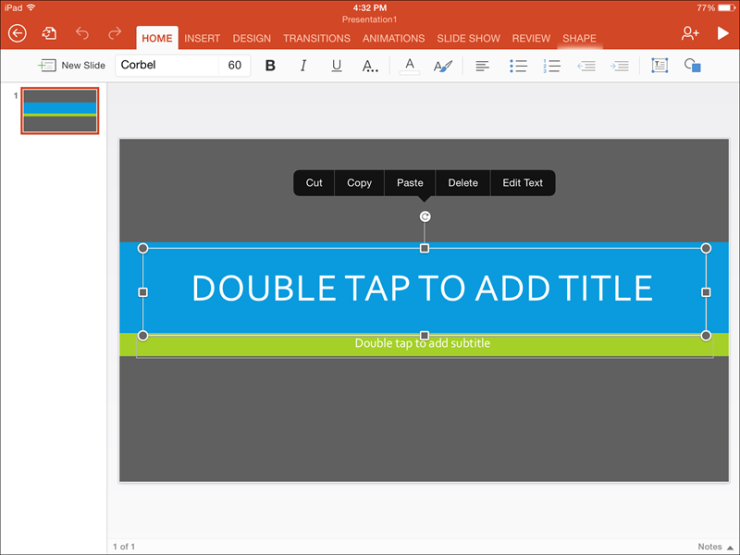 Microsoft PowerPoint for iPad: Free