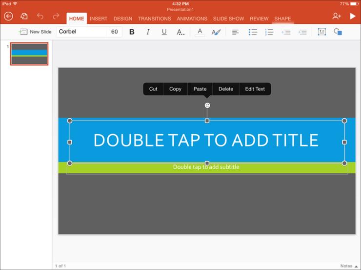 Microsoft PowerPoint for iPad: Free