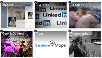 organize topics in Flipboard