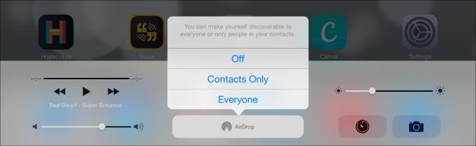 airdrop settings ipad
