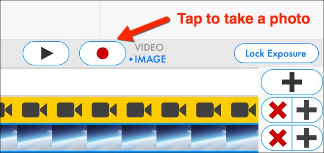 tap to take a green screen photo