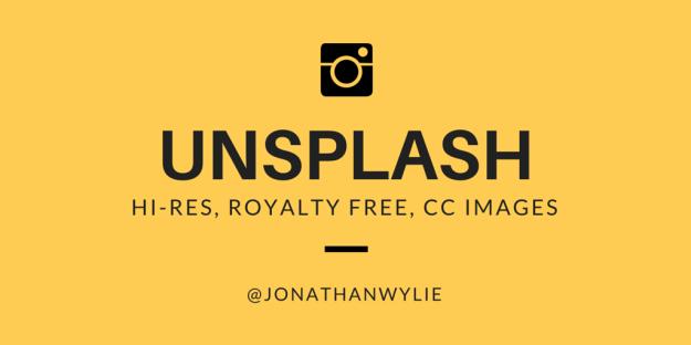 Unsplash button