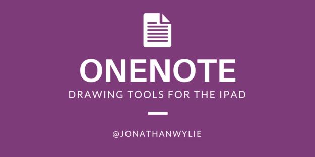 onenote draw tools for iPad