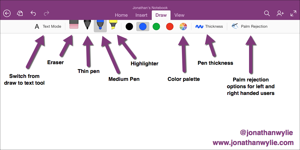 Drawing Lines In Onenote : How to use the onenote for ipad drawing tools jonathan wylie