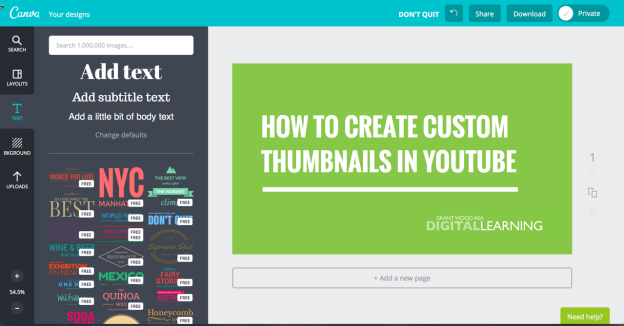 create custom thumbnails