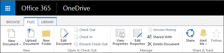 files tab in onedrive for business