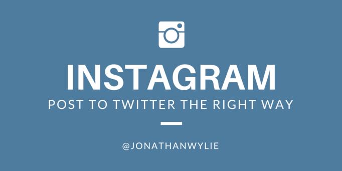 Instagram to Twitter