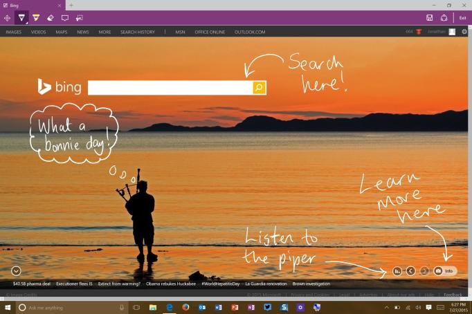 Web Notes in Microsoft Edge