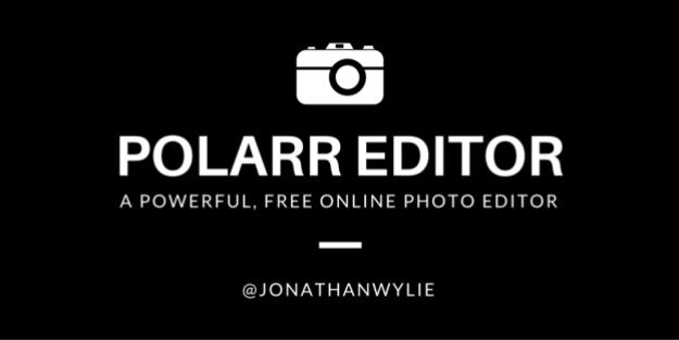 POLARR Editor for the web